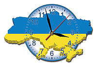 Часы настенные Карта Украины 37*24 см
