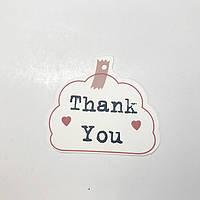 Картонная бирка Thank You