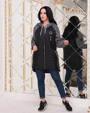 "Демисезонная куртка на молнии ""Melange""| Норма и батал, фото 2"
