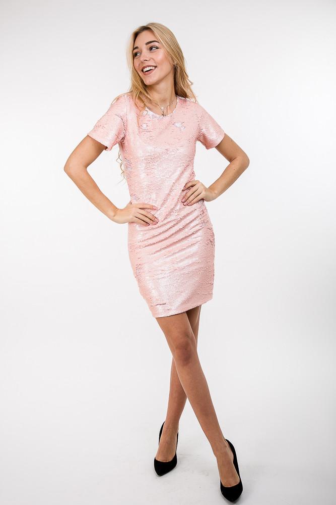 Платье 13260 (персиковый)  продажа a8c5e5e37690a