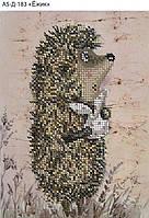 Схема для вышивки бисером на габардине Ёжик