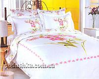 Комплект постели Buket White, Le Vele Полуторный комплект