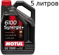 Масло моторное 10W-40 (5л.) MOTUL 6100 Synergie+  , фото 1