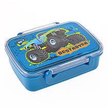 """Контейнер для еды """"M-Trucks"""" 420 мл.с разделителем"""