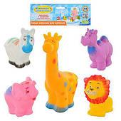 Игрушки Пищалки животные, 5 шт, в кульке
