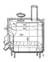 Буржуйка модернизированная Гейзер БМ-1 с конвекционными панелями