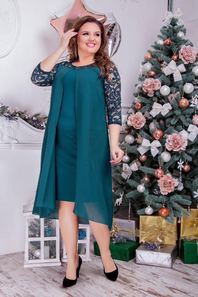 Женское платье нарядное темно-синего цвета 8286