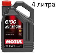 Масло моторное 15W-50 (4л.) MOTUL 6100 Synergie  , фото 1