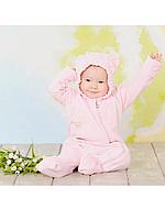 """Слингокомбинезон велюровый """"My baby"""" розовый"""