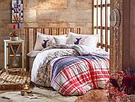 Комплект постельного белья HOBBY FLANNEL Valentina серый