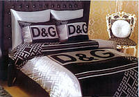 Комплекты брендового постельного белья с простынью на резинке