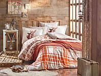 Комплект постельного белья HOBBY FLANNEL Valentina коричневый
