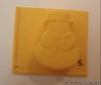 Форма для мыла Снеговик