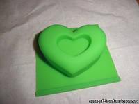 Форма для мыла Сердце с маленьким сердечком