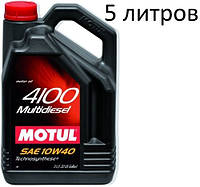 Масло моторне 10W-40 (5л.) MOTUL 4100 Multidiesel, фото 1