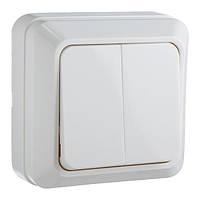 Выключатель 2-клавишный АСКО-УКРЕМ Ct-W белый