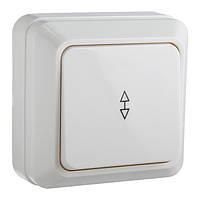 Выключатель 1-клавишный проходной АСКО Ct-W белый