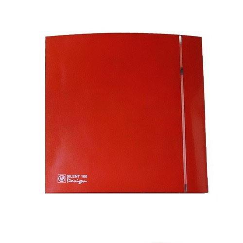 Вытяжной вентилятор Soler&Palau SILENT-100 CZ RED DESIGN-4C