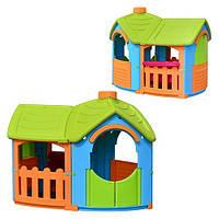 Детский игровой домик-вилла с пристройкой Marian Plast 662