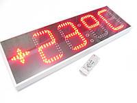 Часы термометр светодиодные уличные с отображением даты и месяца. Супер яркость 4500мКд!
