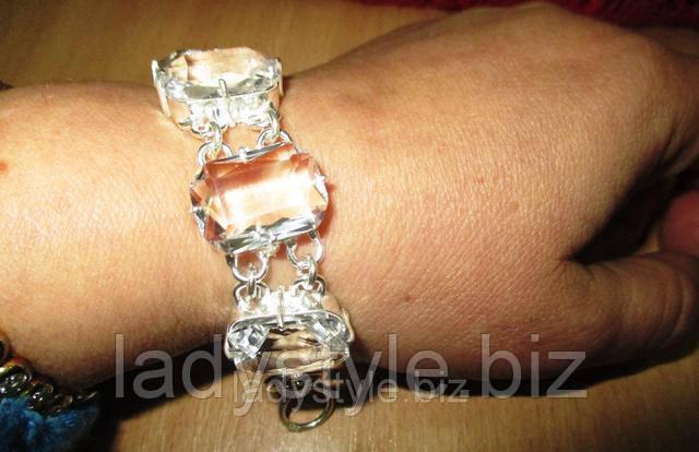 купить серебряный браслет украшения серебро горный хрусталь