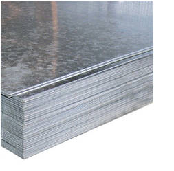 Лист стальной оцинкованный 0,55х1000х2000 мм