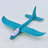 Метательный самолет-планер со светом