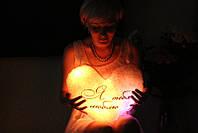 Світна світлодіодна подушка Серце Я тебе люблю