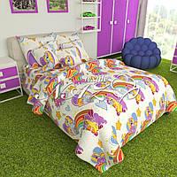 Постельное белье Комплект «Пони на белом» (2 спальный)