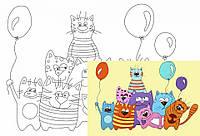 Картина раскраска с контурами на холсте РОСА 20*30см акрил Мультфильм №33