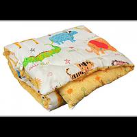 Одеяло Руно силиконовое стеганое с принтом Джунгли, 140х105 (320.137Jungle)