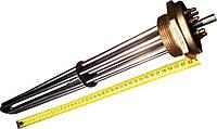 """Блок-ТЕН 2"""" на 10,5 кВт из 3-х тенов, для электрического котла отопления"""