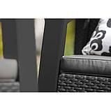 Тримісна софа зі штучного ротангу BAHAMAS LOVE SEAT MAX темно-коричневий ( Keter ), фото 5