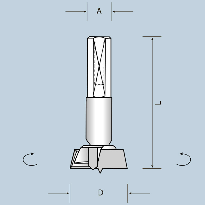 Чашечное сверло D28 L57,5 S10x26 RH (правое) 04202805721
