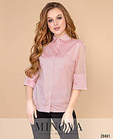 Красивая блуза с бусинками на рукавах (3 цвета) Р50364099, фото 1