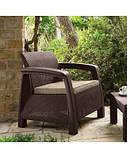 Комплект садових меблів зі штучного ротангу BAHAMAS FIESTA темно-коричневий (Keter), фото 9