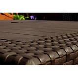 Комплект садових меблів зі штучного ротангу BAHAMAS FIESTA темно-коричневий (Keter), фото 10