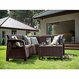 Комплект садових меблів зі штучного ротангу BAHAMAS RELAX темно-коричневий (Keter), фото 4