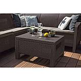 Комплект садових меблів зі штучного ротангу BAHAMAS RELAX темно-коричневий (Keter), фото 6