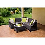 Комплект садових меблів зі штучного ротангу BAHAMAS RELAX темно-коричневий (Keter), фото 8