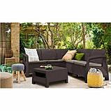 Комплект садових меблів зі штучного ротангу BAHAMAS RELAX темно-коричневий (Keter), фото 10