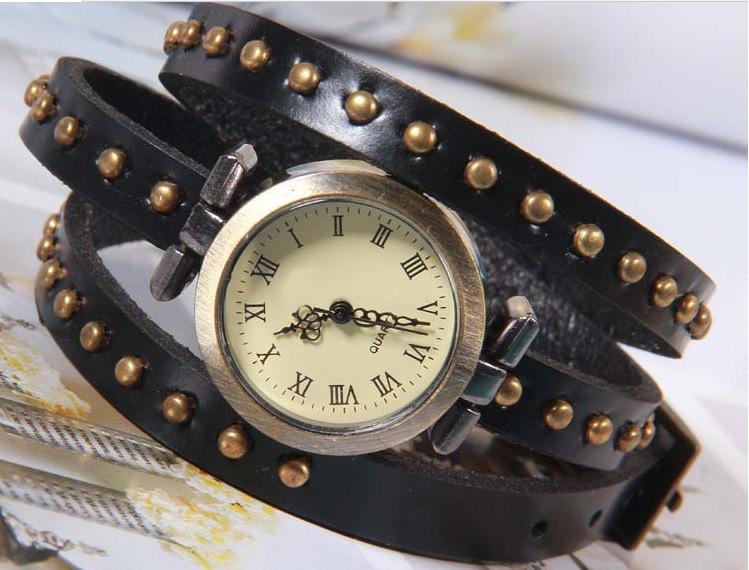 Винтажные часы браслет JQ retro black