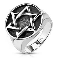 Мужское кольцо из стали Spikes R-Q8056, со звездой Давида