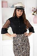 Женская блуза декорирована бусинками на рукавах (3 цвета) Р50364099, фото 1
