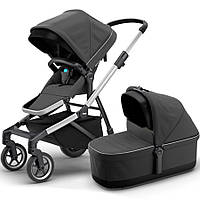 Коляска 2в1 Thule Sleek + Bassinet Charcoal Grey TH11000008