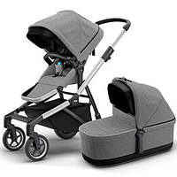 Коляска 2в1 Thule Sleek + Bassinet Grey Melange TH11000006