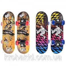 Скейт (скейтборд) детский деревянный для трюков 43х13см Profi (MS 0324-1), фото 3