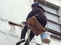 Замазка (ремонт) фасадных трещин