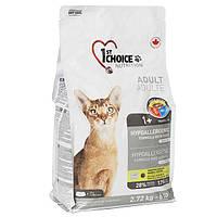 Корм 1st Choice гипоаллергенный с уткой и картошкой для котов, 2,72 кг