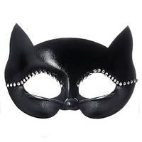 """Маска карнавальная """"Lady Cat"""" R87355 черный, пластик, карнавальные маски, карнавальный костюм, праздник, хобби, венецианские маски"""